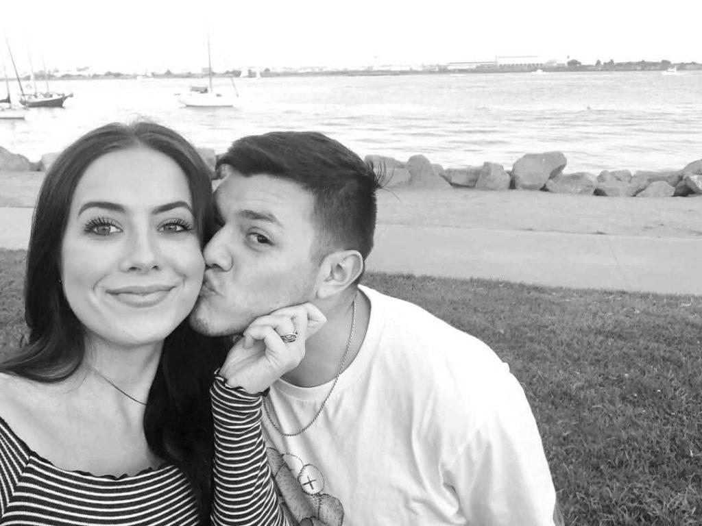 Dominik Gutiérrez with his girlfriend