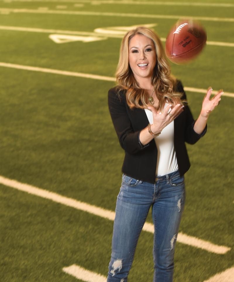 Jen Hale covering NFL