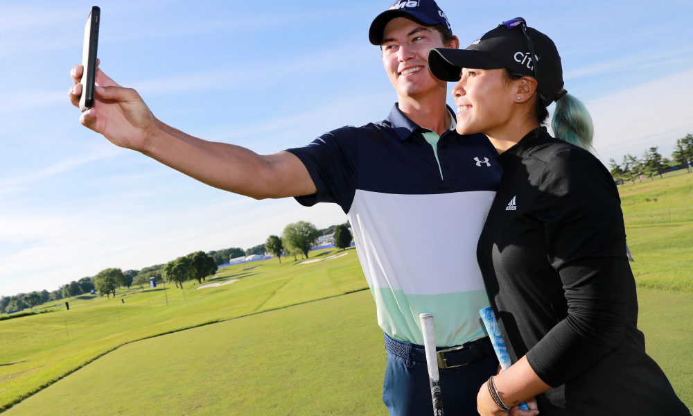 Maverick McNealy with his girlfriend Danielle Kang