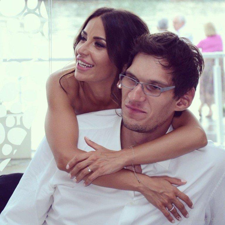 Milica Krstić with her husband