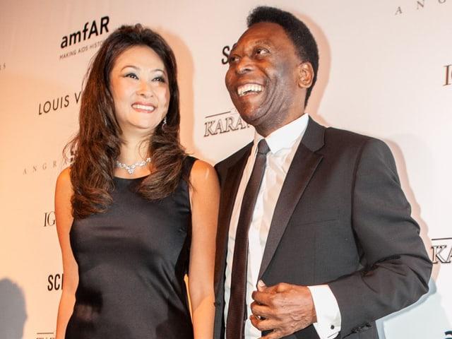 Marcia Aoki and Pele