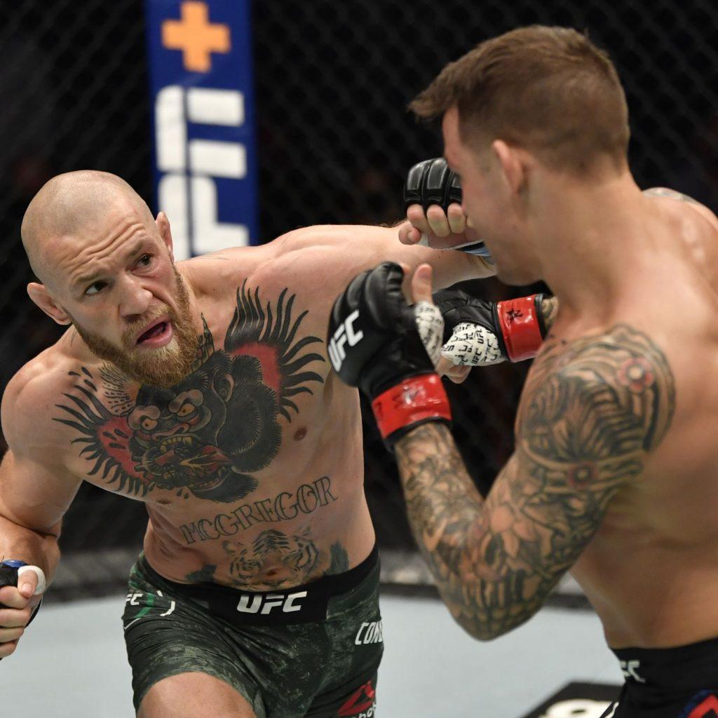Conor McGregor fights Dustin Poirier